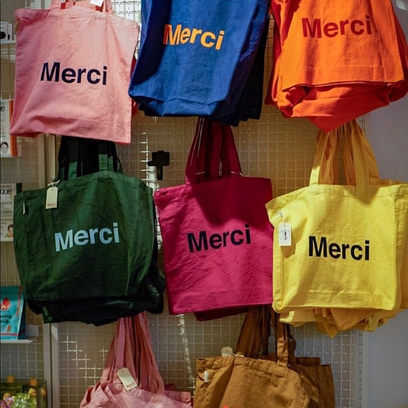 Poshmark Shop Totebag Paris Bags 3color Merci Xq64Yv